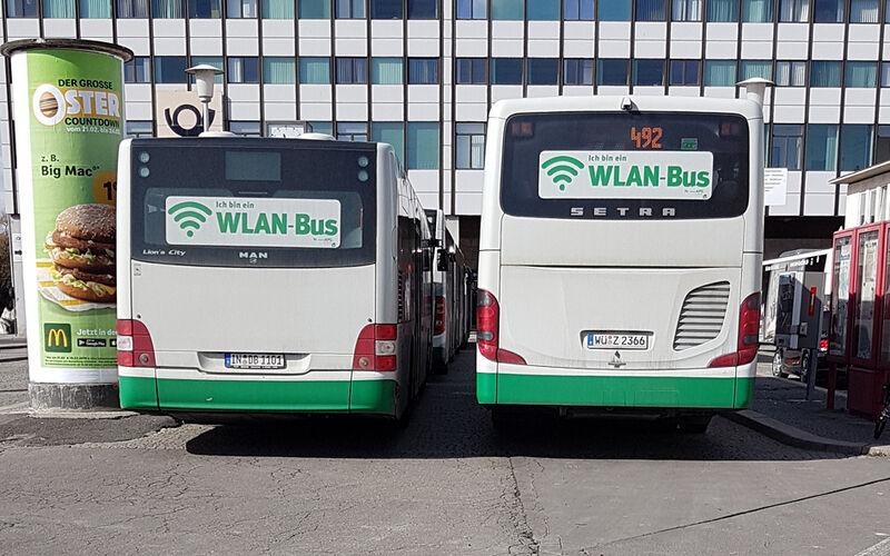 WLAN-Bus geschnitten