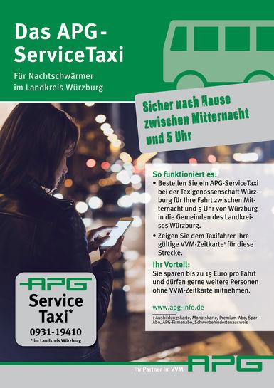 APG-ServiceTaxi Plakat